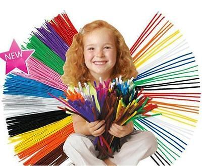 "Wholesale DIY For Chenille Craft Stems Pipe Cleaners 30cm 12"" - Lots of Colours"