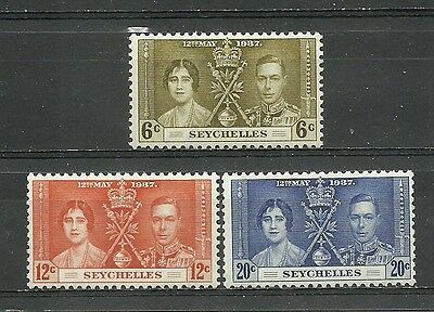 SEYCHELLES For the coronation of George VI 1937.3 new stamps **       (4121)