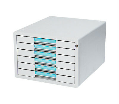 Flat File Cabinet 6 Drawers Index Key Lock Office Home System 1126K