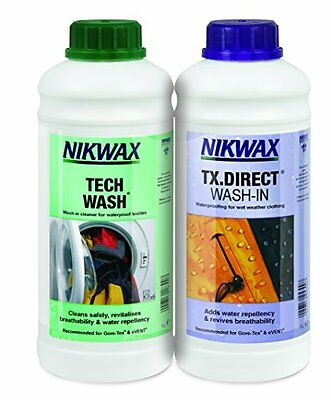 Nikwax Tech Wash Tx. Direct Twin Pack Clean Proof Value Pack - 300ml