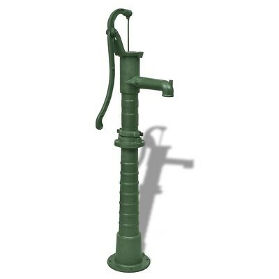# Antique Style Solid Cast Iron Hand Water Pump with Stand Garden Water Feature