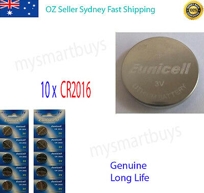 10 x 3V CR2016 Lithium Button Cell Battery for Watch Calculator Dog Cellar AU