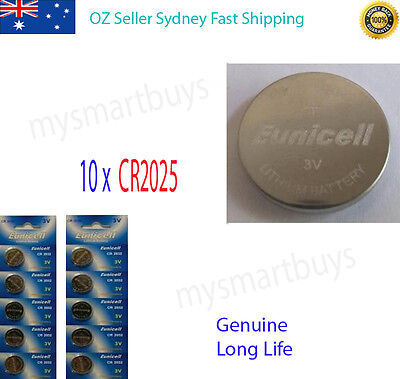 10 x 3V CR2025 Lithium Button Cell Battery for Watch Calculator Dog Cellar AU