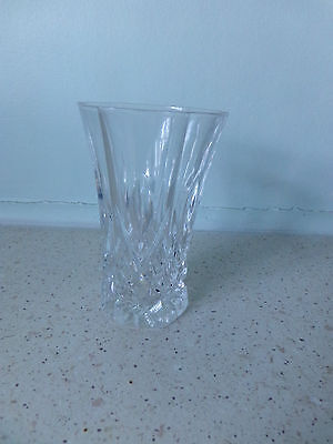 Crystal Vase Diamond cut  perfect condition, no cracks or chips at all  Lovely !