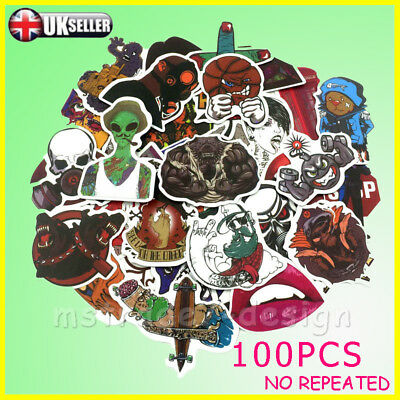 100Random Vinyl Decal Graffiti Sticker For Car Luggage Skate Waterproof Sticker