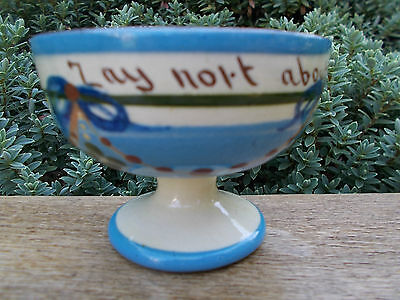 "Torquay Devon Motto Ware Bowl Dish Rare  Garland & Ribbons ""zay Nort About Nort"""