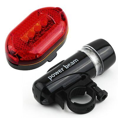 LED Bicycle Bike Cycling Silicone Head Front Rear Wheel Safety Light Lamp P6