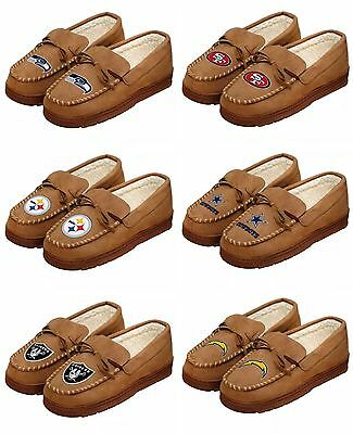 NFL/ MLB Team Logo Warm Winter Moccasin Slippers-Pick your team