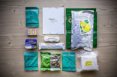 Lithuanian Army Ration Pack. Military meals ready to eat (MRE)