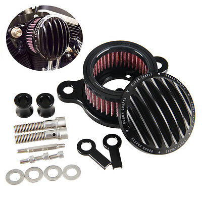 Air Cleaner Intake Filter System Kit Pour Harley Sportster XL883 XL1200 91-16