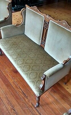 Fine Antique French Furniture set - 2 seater sofa and 2 side chairs