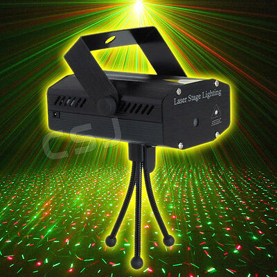 Mini Projector R&G DJ Disco Light Stage Xmas Party Laser Lighting Show NEW
