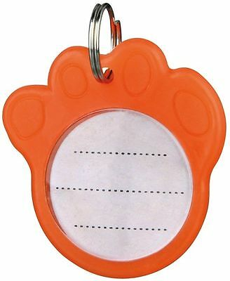Phosphorescent Orange Paw Shaped Dog I.D Address Tag