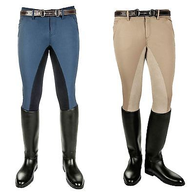 Kingston Mens North Pole Riding 1/1 Alos Full Seat Elastic Ankle Rider Breeches
