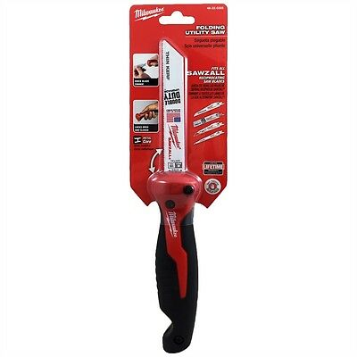 Milwaukee 48220305 Folding Utility Hand Saw to Suit Reciprocating Blades