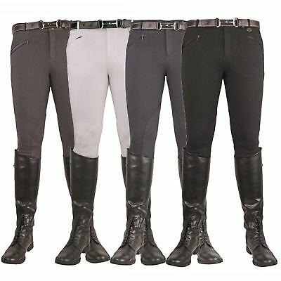 HKM Mens Gents Basic Breathable Bi-Elastic Stretch Soft Horse Riding Breeches