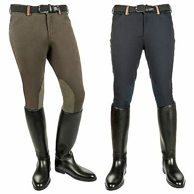 Kingston Equestrian Mens North Pole Jump Alos Knee Patch Breathable Breeches