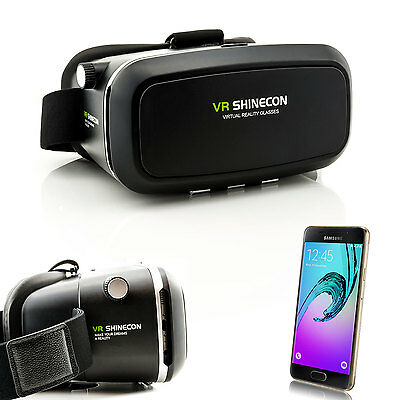 3D Brille VR Virtual Reality für Samsung Galaxy A7 A5 A3 J7 J5 J3 J1 2016 2017