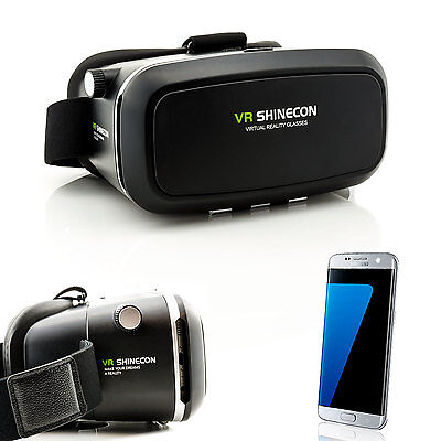 3D Brille VR Virtual Reality für Samsung Galaxy S9 + S8 + S6 S7 Edge Videobrille