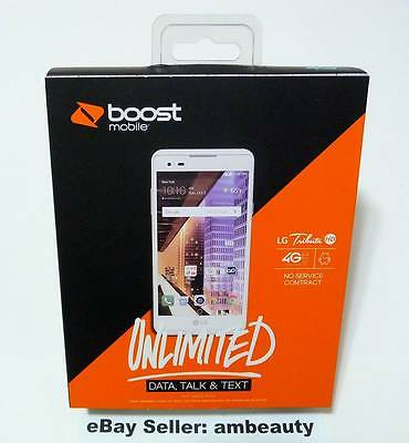 "NEW Boost Mobile LG Tribute HD M3 LS676 4G LTE 5"" Andriod 6.0 16GB 8MP (White)"