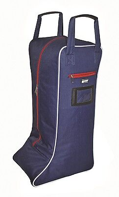 Roma Cruise Horse Riding Boot Bag Navy/Red/White