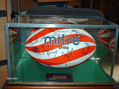 Full Size Rugby Ball Glass Display Case
