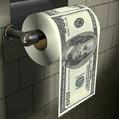 $100 Dollar Bill US Money Toilet Paper Tissue Roll Bathroom Novelty Funny Gift