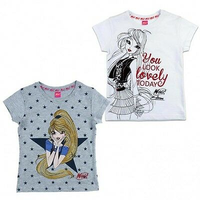 T-shirt manica corta Winx Bloom-6 anni<116cm-Grigio