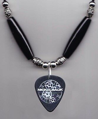 Nickelback Chad Kroeger Signature Black Guitar Pick Necklace - 2012 Tour
