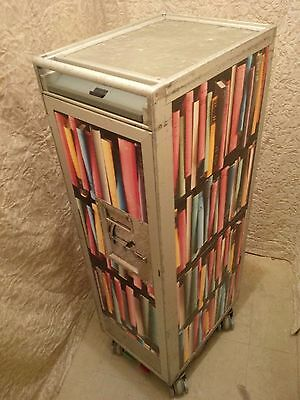 Bookshelf Aircraft Galley Catering Service Trolley Airline Half Cart + Drawers