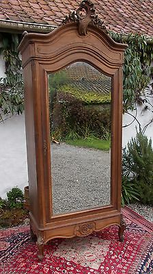 armoire, French wardrobe, mirror-front armoire, antique armoire
