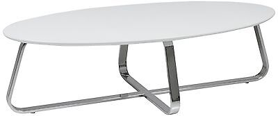 AC Design Furniture Viggo 47531 Coffee Table with Chrome-Plated Metal Frame a...