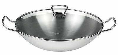 Fissler 06 823 35 001 Kunming Wok 35 cm with Glass Lid Induction