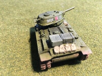 15mm 1/100 WWII Russian Painted Early-War KV-1(76mm) Wargaming Model Mfid: R26