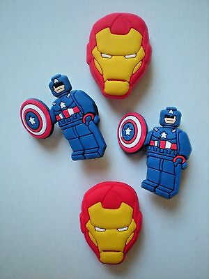 Clog Shoe Charm Plug Accessories For s WristBand Iron Man Super Hero