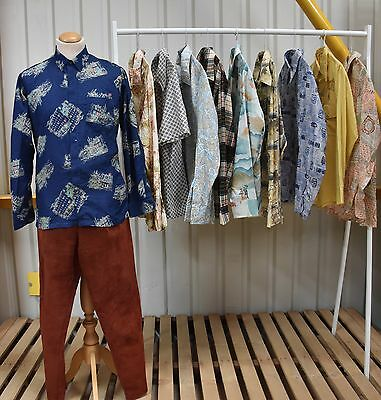 JOB LOT 10 X VINTAGE 1970s ERA SHIRTS, MENS AND WOMENS AVAILABLE