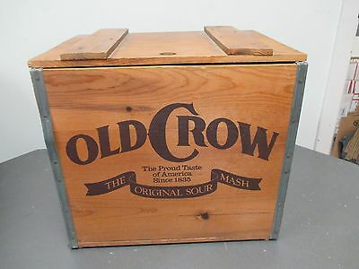 Old Crow Whiskey Wooden Crate Reproduction Bar Home Decor