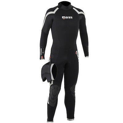 Mares Pioneer 7Mm Mens Scuba Diving Back Zip Wetsuit With Hood & Semi Dry Seals
