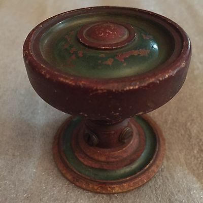 Antique Colonial Solid Bronze Door Knob / Original Patina #4