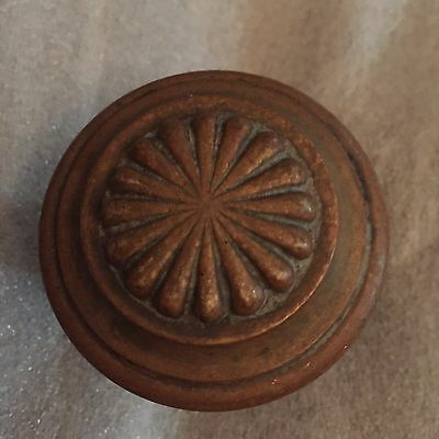 Antique Colonial Solid Bronze Door Knob / Original Patina #3