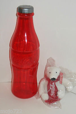 Lot Coke Coca-Cola Red Bottle Bank 12 in. and Polar Bear MCR