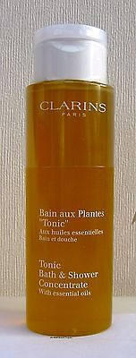 Clarins Tonic Bath & Shower Concentrate with Essential Oils 200ml Sealed unboxed
