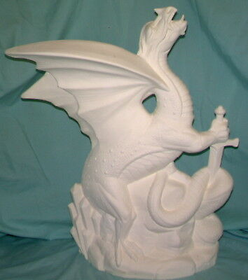 Doc Holliday Ceramic Bisque WAR LORD DRAGON Ready to Paint