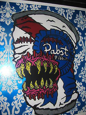 Rare Pabst Blue ribbon beer sign Pabst Blue Monster