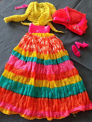 BARBIE Vintage-Outfit 1972 * #3492 Flying Colors * complete *