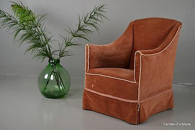 Antique Vintage Edwardian Upholstered Armchair Chair