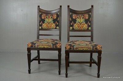 Pair Art Nouveau Dining Chairs