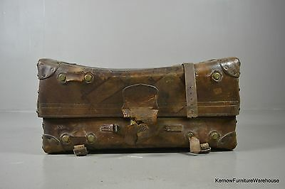 Victorian Brown Leather Trunk