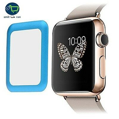 BLUE BEZEL TEMPERED GLASS Screen Protector Film For iWatch 38MM APPLE WATCH