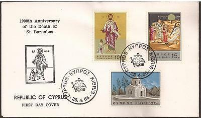 Cyprus 1966 Saint Barnabas-Church-Famagusta Rarely Seen Unofficial Cacheted Fdc